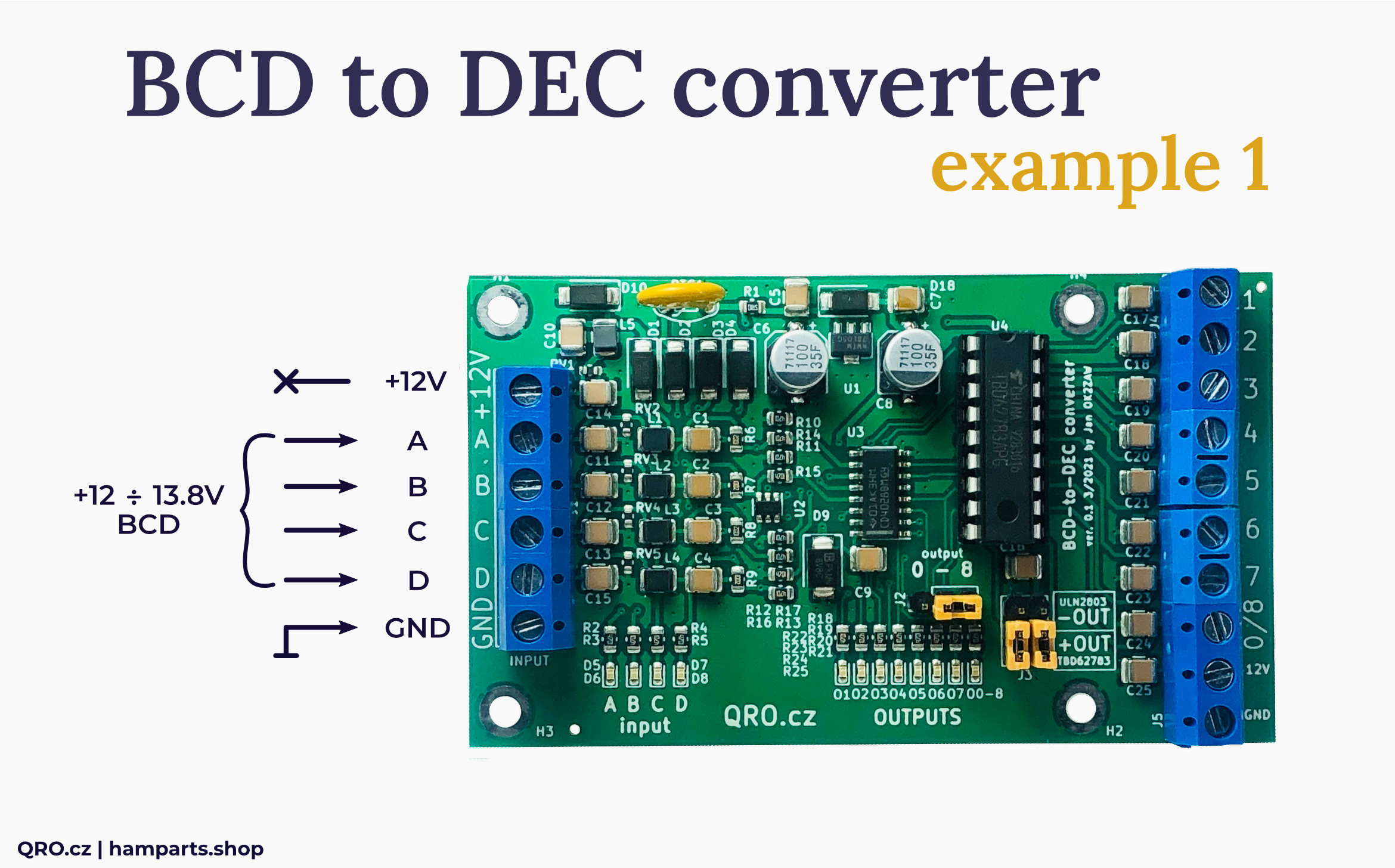 BCD to DEC converter connection example by qro.cz hamparts.shop