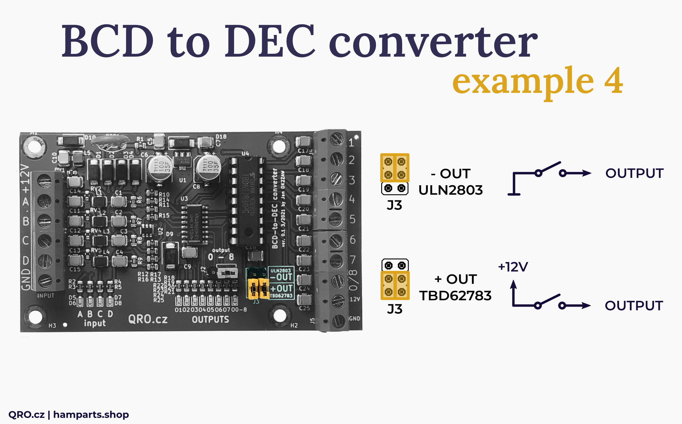 BCD to DEC converter switch example by qro.cz hamparts.shop
