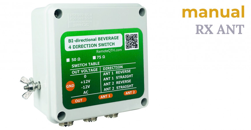 4-way switch for Bi-directional beverages manual