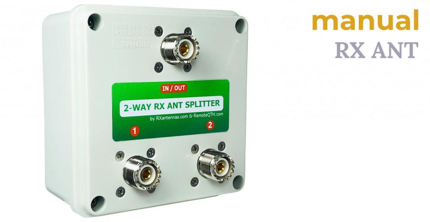 2-way RX splitter BOX manual
